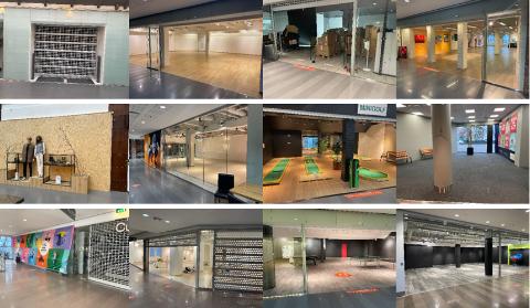 Disse lokalene står tomme.