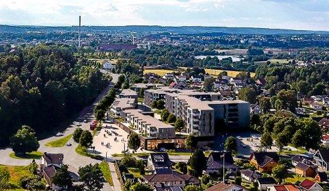 NY BYDEL: Hafslund kan bli en helt ny bydel når Meieritomta bygges ut. Slik ser utbyggerne for seg at utbyggingen kan bli.