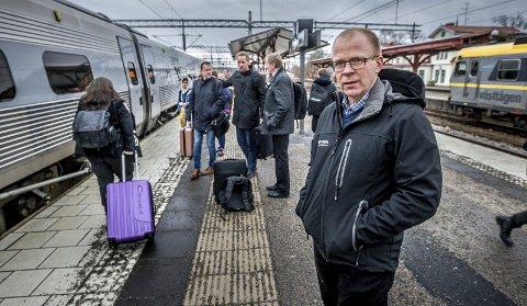 Ståle Solberg i Sammen For Sarpsborg mener at Sarpsborg bystyre må kunne innhente eksterne/uavhengige vurderinger som kan belyse Intercity-saken før det tas en beslutning. (Foto: Johnny Helgesen)