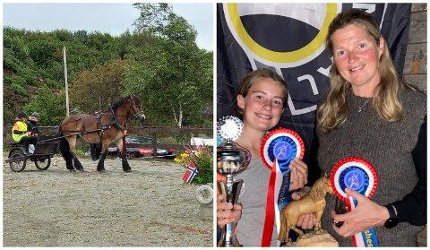 GULL: Det vart førsteplass samanlagt for både Hanne (13) og Agna Hollekve i NM.
