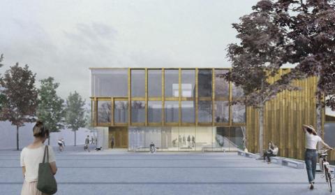 Høyre/Venstre/KrF gasser på og prioriterer bygging av nytt rådhus, sykehjem, kirke og parkeringsanlegg i sentrum.
