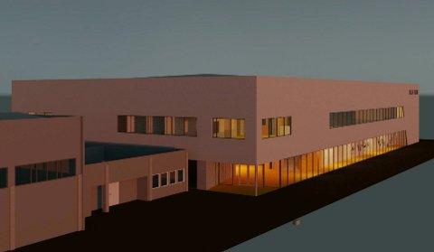 STOR HALL: Slik kan den nye turnhallen i Sola se ut. Sola Turn ønsker seg en komplett turnhall med to etasjer. Nede er det plass til alt en gymnast kan tenke seg. Planen er å bygge kafé og sosiale møteplasser i andreetasjen.