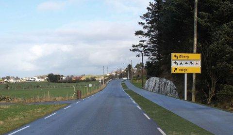 Slik kan det bli på Vigdelsvegen dersom fremtidig gang- og sykkelvei legges på østsiden av veien.
