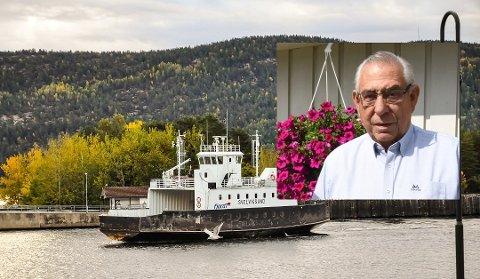 Alf Zahl har 17 år bak roret på Svelvikferja - nå tar han på seg flere oppgaver før ferja erstattes i 2022.