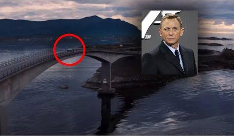 Endelig har vi fått et glimt av Atlanterhavsveien i den kommende James Bond-filmen.