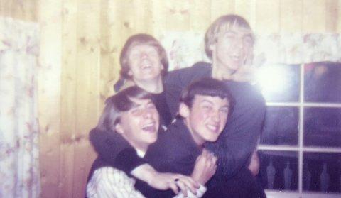 MORSOM TID: Guttedrømmen ble virkelighet for bandet The Enemies fra Tønsberg. John Erik Holtan, Jahn Teigen, Freddy Lepsøe og Freddy Petterson her foreviget en gang på 60-tallet.