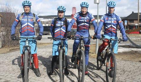 Godt kjørt i Sverige: Team Trek Sparebanken Hedmark, venstre Anders Fiskvik, Tor Halvor Bjørnstad-Tuveng, Eirik Fiskvik og Knut Erik Nesteby.