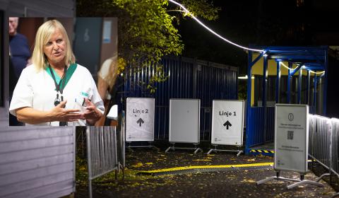 Legevaktsjef Dagrun Waag Linchausen i Bergen (innfelt) har hatt ansvaret for koronatesting i Bergen. De tester større andel av befolkningen hver uke.
