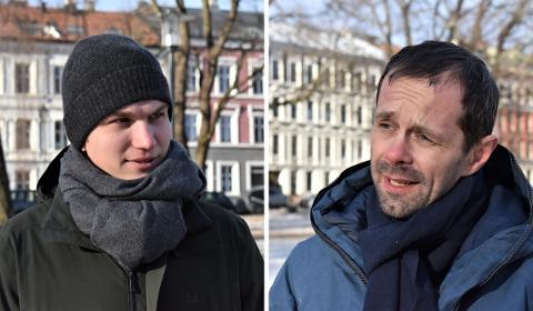 Bystyrerepresentantene Nicolai Øyen Langfeldt (H) (t.v.) og Hallstein Bjercke (V) klandrer byrådet for at Oslo ikke får tilgang på 5,6 milliarder kroner til kollektivtransport.