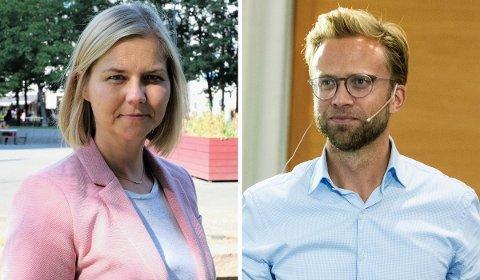 FRYKTER POLITIKK SOM IKKE ER BRA FOR OSLO: Guri Melby i Venstre og Nikolai Astrup i Høyre.