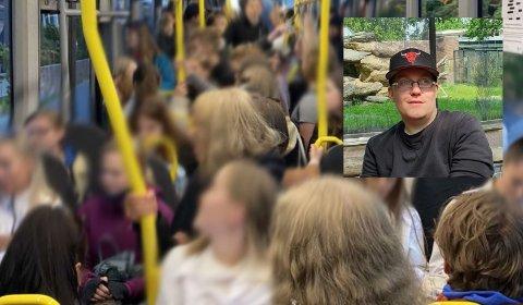 Mareritt: Nils Gunnar Iversen (33) hadde en svært dårlig opplevelse i Bodø i lørdagkveld, og frykten for å bli smittet og påføre andre smitte var stor etter bussturen. NB. Bildet er tatt ved en tidligere anledning.