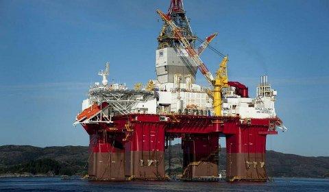Denne veka kom den fyrste av Songa offshore sine super-riggar, Songa Equinox til Fensfjorden for testing. FOTO: SONGA