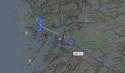 Det siste Widerøe-flyet som kunne lande på Flesland var klokken 14.30.