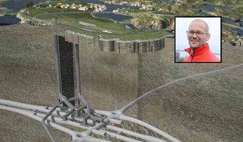 Rogfast: Alexander Rügert-Raustein (innfelt i bildet) mener Rogfast-prosjektet bør skrinlegges, og at stadig flere innser det samme.