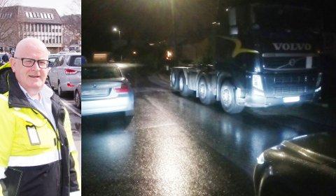 SMALT: To kjøretøy på parkert på hver sin side av veien er ikke et uvanlig syn rundt om i kommunen. Men ifølge Arne Stapnes, daglig leder i Eigersund parkering, er det ikke nødvendigvis snakk om feilparkering i dette tilfellet.