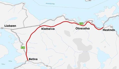 FEKK JOBB: B&G skal byggja ny E39 mellom Betna og Hestnes i Møre og Romsdal.