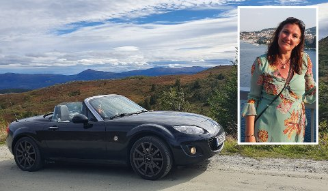 Tone Møller Svendsens Mazda er stjålet. Det skjedde utenfor datterens leilighet i Drammen.