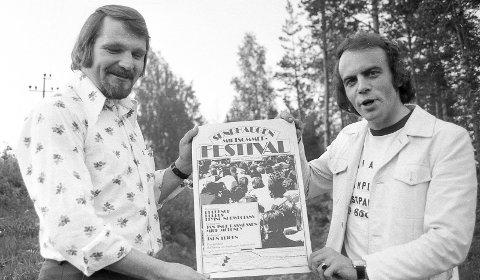 Midtsommerfestival: Midt på -70-tallet ble Sundhaugen Midtsommerfestival arrangert. Kolbjørn Olsen og Kai Andersen sto for opplegget.Foto: Jan Rasmussen