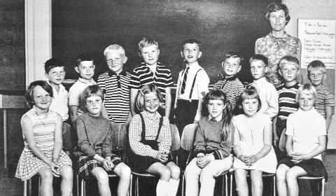 Klassebilde: En klasse fra 1969/70 ved Darbu skole.