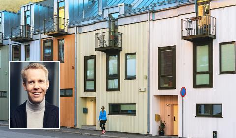 ØKE: Hele 61 prosent av de spurte i NBBLs boligmarkedsbarometer for februar tror boligprisene vil stige det neste året. Barometeret presenteres av sjeføkonom i NBBL Christian Frengstad Bjerknes. Foto: Nadia Frantsen