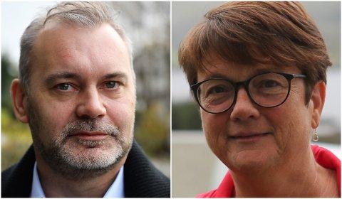 Kinn-ordførar Ola Teigen og Bremanger-ordførar Anne Kristin Førde, begge frå Arbeidarpartiet.
