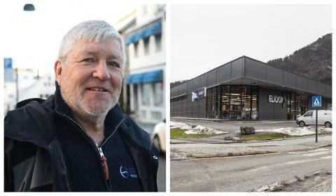 TIL SALS: Vidar Grønnevik i Vesla Eigedom Førde AS fortel at dei skal selje dette næringsbygget som dei har eigd sidan 2009.