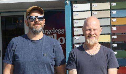 POSITIVE: Styreleiar Geir Olav Stang (t.v.) og dagleg leiar Ole André Reiakvam i AK Stang Eiendom vil skape liv på Evja igjen.