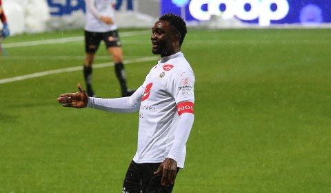 HELTEN: Peter Godly Michael (22) håpar å få fart på karrieren att i Sogndal. Laurdag blei den nigerianske spissen matchvinnar i sigeren over Grorud.
