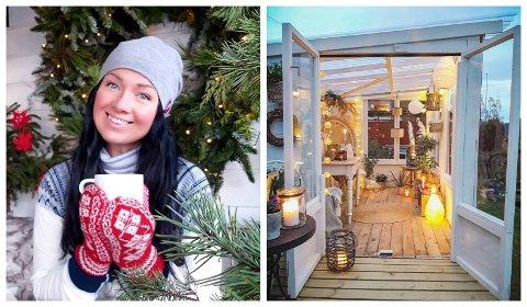 INSPIRASJON: Marianne Tveit og familien bruker mykje tid saman i hagen og i det vesle drivhuset. No vil ho inspirere andre til å gjere det same.
