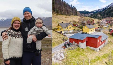 SMÅBRUK PÅ SANDE: Hit skal det komande ekteparet flytte  med sonen Jarl (7 månader).
