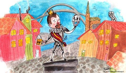 Frederik II-smitte: Fredrikstad ble smittet av grunnlegger Frederik II's nytelsessyke og dermed ble underholdningsbyen født, mener Pål Nielsen. Illustrasjon: Balder