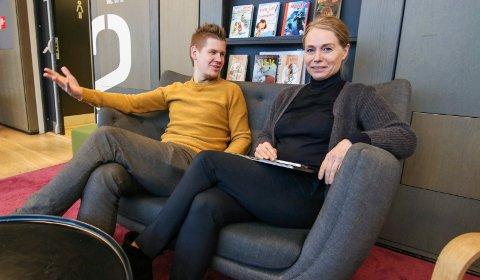 Full vinter: Perry Aarti Olsen og Merete Lie har en fullpakket meny i årets tre første måneder på Litteraturhuset.