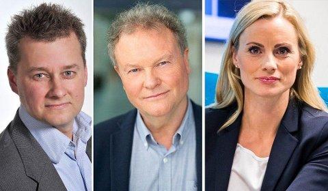 KLARE RÅD: Birger Myhr i Pensjonseksperten, pensjonsøkonom Knut Dyre Haug i Storebrand og forbrukerøkonom Silje Sandmæl i DNB. Foto: PRIVAT/STOREBRAND/dnb