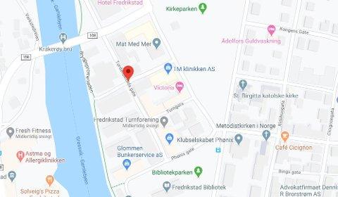 Innbrudd: Tordenskiolds gate ligger mellom Kråkerøybrua og biblioteket i sentrum.