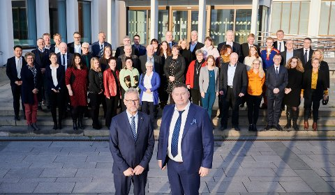 Kommunestyret: Kommunestyret for nye Narvik kommune konstituerte seg torsdag 17. oktober.