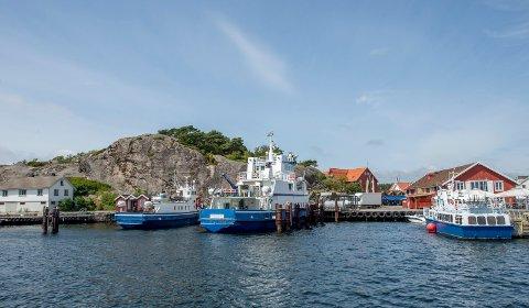 Til venstre på bildet ligger det digre fjellet som blir kalt Kollen.  Arild Aaserud vil sprenge bort fjellet og bygge hotell.