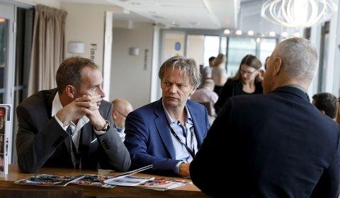 LAGET BIRGITTE-SERIEN:  Journalist Bjørn Olav Jahr (t.v.) og regissør og produsent Bjørn Eivind Aarskog har laget «Hvem drepte Birgitte?» skal snart vises på TV2.                                            FOTO: ALFRED AASE