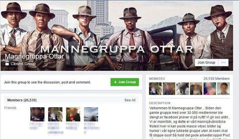 STENGT: Denne facebooksiden er tatt ned.