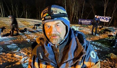 BRUTT; Harald Tunheim, den erfarne hundekjøreren fra Alta, har brutt Finnmarksløpet 1200.