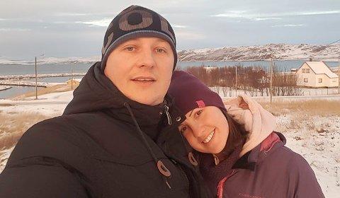 PRINSESSE: – Vi flytter aldri fra Kokelv. Ikke så lenge det er arbeid til oss her, sier Vladan og hans «prinsesse på erten» Katarina Babic.