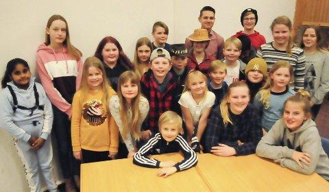 Klare for konsert: Aurskog skolekorps håper på fullt hus under filmkonserten søndag.Foto: Anita Jacobsen
