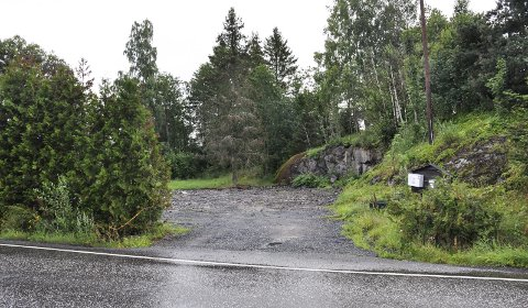 HANEKLEIVA 171: På denne tomta ønsker Holmestrand Boligstiftelse å oppføre et bygg med seks leiligheter for personer med rusproblemer. FOTO: BJØRN TORE BRØSKE