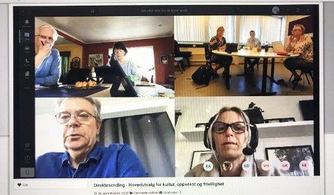 Digital AVGJØRELSE: Onsdag kveld hadde hovedutvalget for kultur, oppvekst og frivillighet digitalt møte. Der støttet Ap/SV/Sp-flertallet administrasjonens avslag på Fredly barnehages søknad om å få utvide. SKJERMFOTO