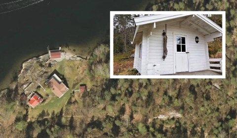 VIL ERSTATTE: Uthuset ligger på denne fritidseiendommen på Ørvik.