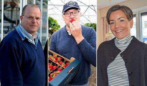 F.v. Per Osmund Espedal, Simen Myhrene og ordfører Gunn Cecilie Ringdal blir å finne på årets næringslivsdager onsdag 9. oktober.