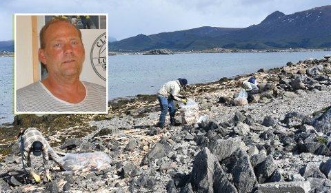 UHELDIG: Daglig leder Gjermund Vian er klar på at hendelsen der masse flis havnet i fjæra var uheldig.