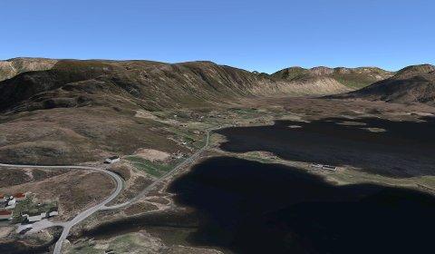 Begynner her: Asfalteringen av første etappe begynner på Sletteng, og strekker seg til avkjørselen inn til Vendalsjord.