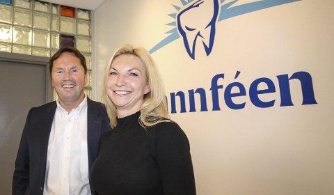 Eiere: Nils og Lena Sundling har fått det til med Tannfeen i Moss. Nå åpnes en ny klinikk i Tønsberg. – Vi skal ha 15 klinikker i Norge med 6–10 tannleger, sier ekteparet.
