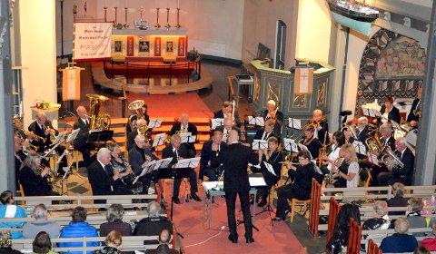 VETERANER: Her fra en tidligere konsert med Moss Gamle Guttemusikkorps i Moss kirke.