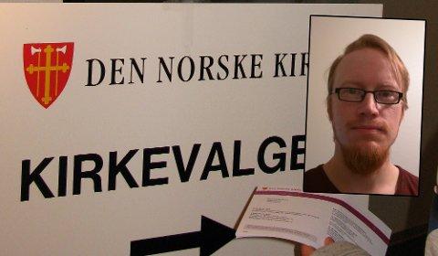 OPPGITT: Sten Jørgen Pettersen (innfelt) har meldt seg ut av Den norske kirke fem ganger. Likevel mottok han valgkort til kirkevalget.